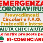 EMERGENZA CORONAVIRUS Circolari – provvedimenti – f.a.q